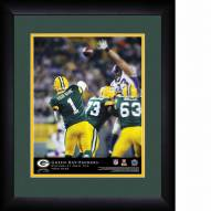Green Bay Packers Personalized 13 x 16 NFL Action QB Framed Print