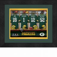 Green Bay Packers Personalized Locker Room 13 x 16 Framed Photograph