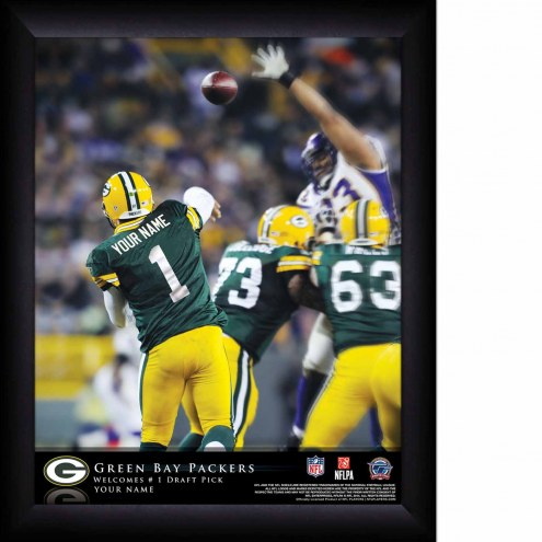Green Bay Packers Personalized 11 x 14 NFL Action QB Framed Print