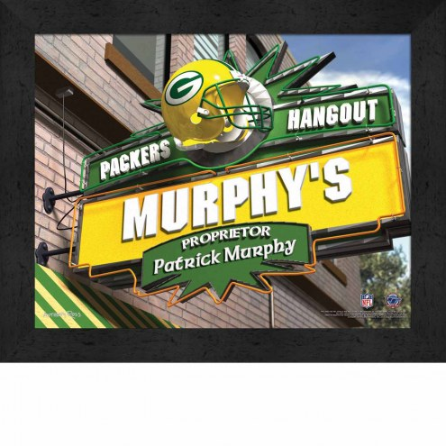 Green Bay Packers Personalized Framed Sports Pub Print