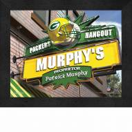 Green Bay Packers 11 x 14 Personalized Framed Sports Pub Print