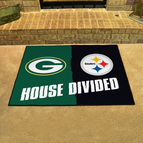 Green Bay Packerspittsburgh Steelers House Divided Mat