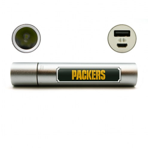 Green Bay Packers Portable Power Charger with Flashlight