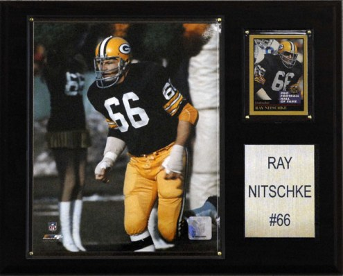 "Green Bay Packers Ray Nitschke 12 x 15"" Player Plaque"