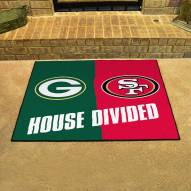 Green Bay Packers House Divided Mat
