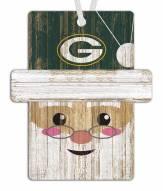 Green Bay Packers Santa Ornament