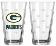 Green Bay Packers Satin Etch Pint Glass - Set of 2