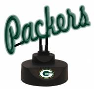 Green Bay Packers Script Neon Desk Lamp