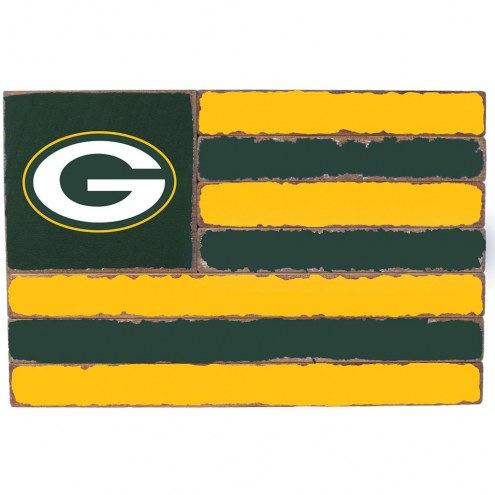 Green Bay Packers Small Flag Wall Art