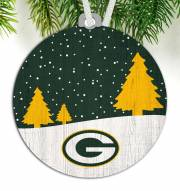 Green Bay Packers Snow Scene Ornament