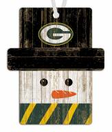 Green Bay Packers Snowman Ornament
