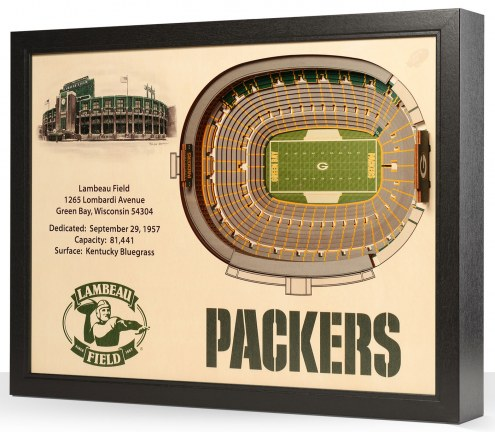 Green Bay Packers 25-Layer StadiumViews 3D Wall Art