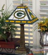 Green Bay Packers Stained Glass Mission Table Lamp