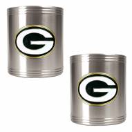 Green Bay Packers Stainless Steel Can Coozie Set
