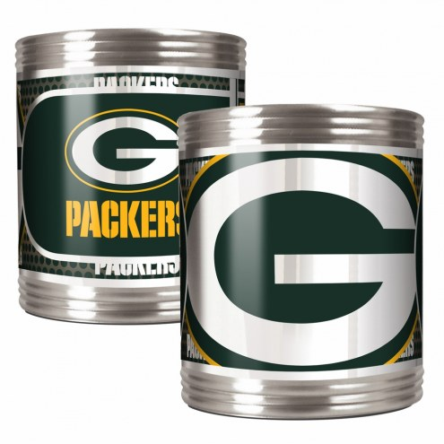 Green Bay Packers Stainless Steel Hi-Def Coozie Set