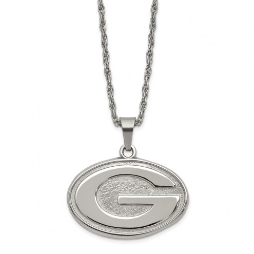 Green Bay Packers Stainless Steel Pendant on Chain