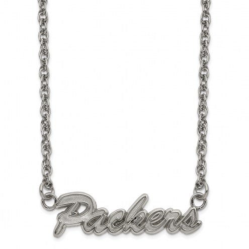 Green Bay Packers Stainless Steel Script Necklace