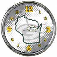 Green Bay Packers State of Mind Chrome Clock