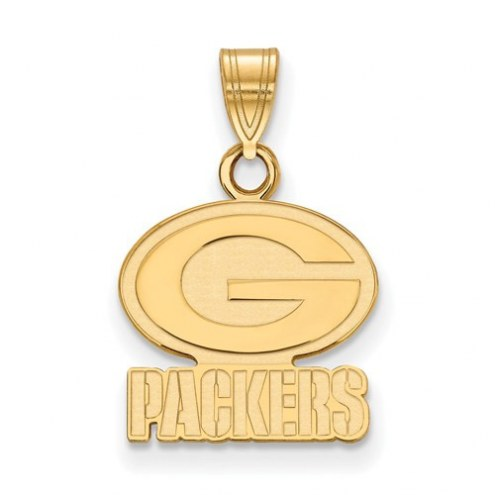 Green Bay Packers Sterling Silver Gold Plated Small Pendant