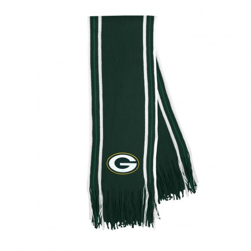 Green Bay Packers Stripe Fringe Scarf