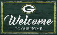 Green Bay Packers Team Color Welcome Sign
