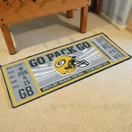 Green Bay Packers Ticket Runner Rug