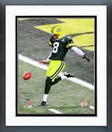 Green Bay Packers Tim Masthay Super Bowl XLV Action Framed Photo