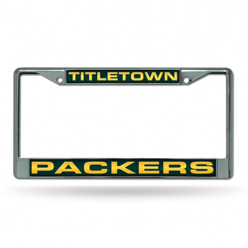 Green Bay Packers Titletown Laser Chrome License Plate Frame