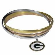 Green Bay Packers Tri-color Bangle Bracelet
