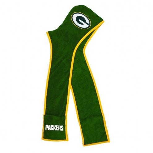 Green Bay Packers Ultra Fleece Hoodie Scarf
