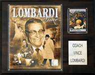 """Green Bay Packers Vince Lombardi 12 x 15"""" Player Plaque"""