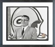 Green Bay Packers Vince Lombardi 1968 Posed Framed Photo