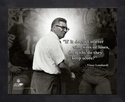 Green Bay Packers Vince Lombardi Football Framed Pro Quote