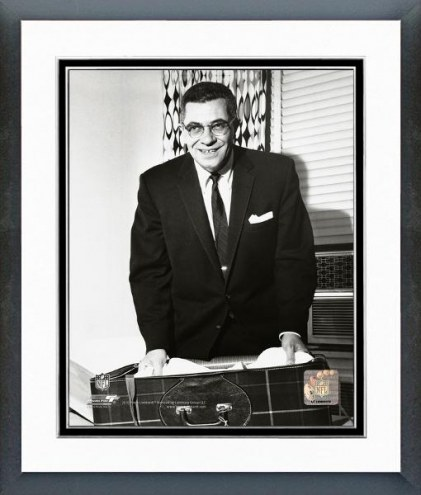 Green Bay Packers Vince Lombardi Posed Framed Photo