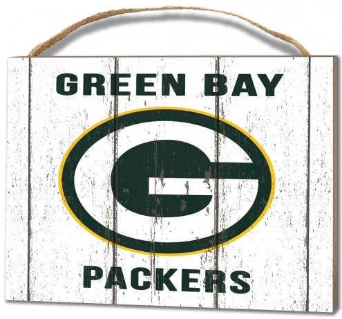 Green Bay Packers Weathered Logo Small Plaque