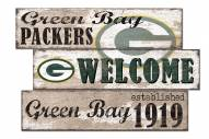 Green Bay Packers Welcome 3 Plank Sign