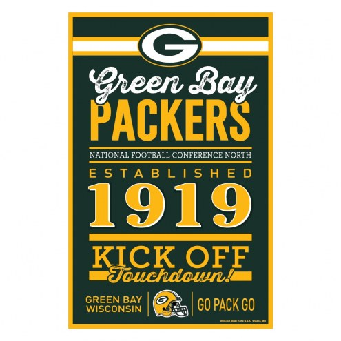 Green Bay Packers Established Wood Sign
