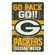 Green Bay Packers Slogan Wood Sign