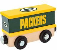 Green Bay Packers Wood Box Car Train