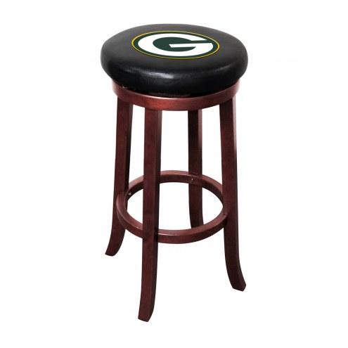 Green Bay Packers Wooden Bar Stool
