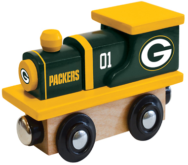 Green Bay Packers Wooden Toy Train