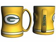 Green Bay Packers Yellow Sculpted Relief Coffee Mug
