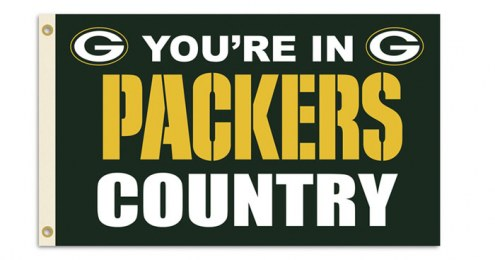 "Green Bay Packers ""You're In Packers Country"" Flag"