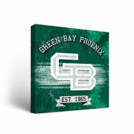 Green Bay Phoenix Banner Canvas Wall Art