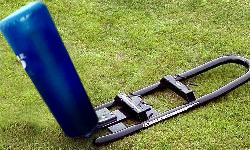 Hadar Athletic One Man Middle School Football Blocking Sled with Cone Pad
