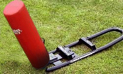 Hadar Athletic One Man Middle School Football Blocking Sled with Cylinder Pad