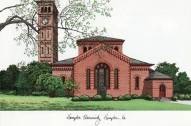 Hampton Pirates Campus Images Lithograph