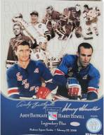 """Harry Howell & Andy Bathgate Dual Signed Tribute Timeline 13""""x9.5"""" Pamphlet"""