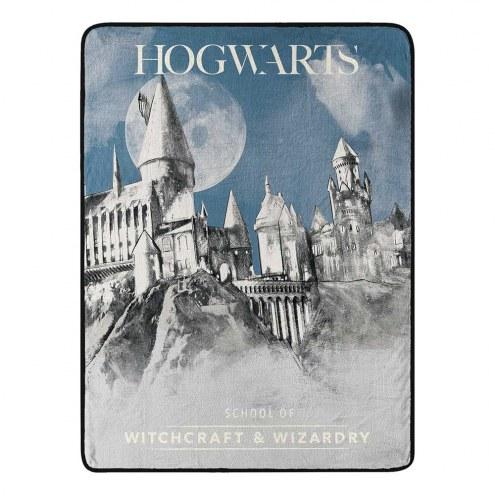 Harry Potter Witchcraft & Wizardry Micro Raschel Throw Blanket