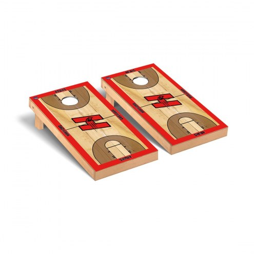 Hartford Hawks Basketball Court Cornhole Game Set